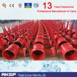 Valvola a farfalla concentrica dell'estremità Grooved materiale di Di/CS/Ss/Di dalla valvola di Tianjin Exxon