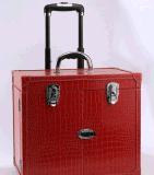 Neuer mehrschichtiger Zug-Rod-Kasten-wasserdichte große Kapazitäts-kosmetische Kasten-Schönheits-Fälle