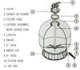 Serbatoio del filtro dal raggruppamento della vetroresina del commercio all'ingrosso del diametro di Florida 400mm-1400mm