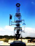 Conduite d'eau en verre de vente chaude de percolateur droit de tube de qualité de Borosilicate de Handblown, pipes de fumée de tabac, conduite d'eau de fumage en verre