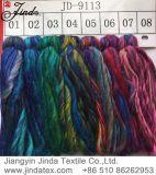 Filato acrilico Jd9113 di immaginazione di colore del Rainbow