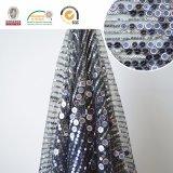 Tela Slivery do laço de Embroidry dos grânulos, forma bonita para a tela nova C10059 do laço