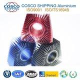 Perfil de aluminio competitivo del disipador de calor con la anodización y trabajar a máquina