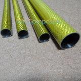 Tubo de alta resistencia coloreado de la fibra del carbón 3k