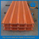 Os materiais de construção colorem aço ondulado folhas galvanizadas dos revestimentos da telhadura do metal