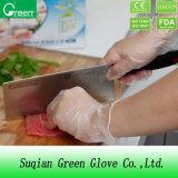 Transparente Familien-Gebrauch-Nahrungsmittelvinylwegwerfhandschuhe mit Nahrungsmittelgrad
