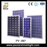 Rua pólo claro da geração da energia da potência solar com as peças claras do diodo emissor de luz de 80 watts