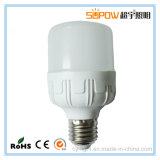 Bulbo plástico de alumínio barato E27 do diodo emissor de luz da forma da carcaça 10W T do preço 220V do poder superior de RoHS do Ce