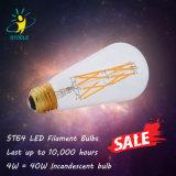 Bombilla del fabricante St64 4W-8W LED Edison