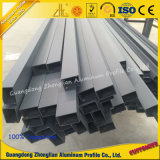 Profil carré en aluminium de tube d'extrusion de profil d'enduit en aluminium de poudre