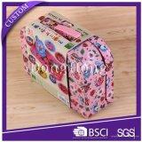 Rectángulo de regalo de papel de la maleta de la cartulina de los niños con la maneta