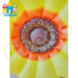 Finego PVCスイカ膨脹可能な水ヒマワリのラウンジのプールのおもちゃの浮遊物