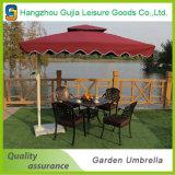 Parapluie extérieur droit d'impression en acier durable carrée