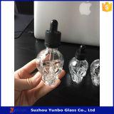 30ml освобождают бутылку капельницы черепа стеклянную для Eliquid