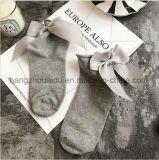 Чисто цвет хлопка с милый носком лодыжки платья смычка