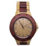 Relógio feito sob encomenda da forma com o relógio de madeira do calendário