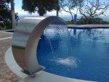 Cortina de água popular da piscina do aço inoxidável