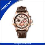 De Riem van het Patroon van de Krokodil van het Horloge van de Mensen van de Kwaliteit van Genève van het Polshorloge van de chronograaf