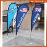 De Vlaggen van het strand, de Banner van de Traan, de Vlag van de Reclame