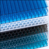 Feuille cellulaire de nid d'abeilles de feuille d'épreuve de son de polycarbonate pour la toiture de serre chaude