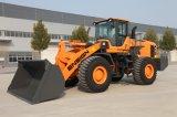 건설장비 중국 상표 군기 안내하는 통제를 가진 6 톤 바퀴 로더 Yx667