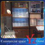 Cabina de madera del estante de los vidrios de la exposición de los vidrios del escaparate de los vidrios de la cabina de visualización de los vidrios (YZ160404)