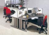 Estação de trabalho do divisor da disposição do escritório com gabinete do cair