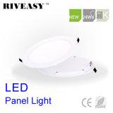 luz nana redonda de la luz del panel de 24W LED LED con la luz del panel aislada Ce del programa piloto SMD LED