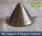 Forma de cono de acero inoxidable de café Gotero