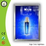 Luz 23m m fina ultra delgada en el rectángulo ligero de The Box Limited LED que hace publicidad de la muestra