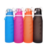 botella de agua plegable del recorrido 1L del silicón de gran capacidad de la categoría alimenticia
