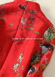 Rotes Frauen `S Baumwollchinesische Art-Kleid