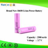 Capacidad plena de la batería del Li-ion 18650 de la alta calidad 3.7V 2500mAh del nuevo producto