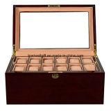 casella di legno dell'organizzatore di memoria della visualizzazione di /Jewellery del contenitore di vigilanza 12-Slot (LW-JB0328)