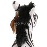 Jouet d'animaux de zèbre de peluche bourré par coutume mignonne pour la vente en gros