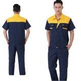 Les vêtements de travail unisexes de vêtement de travail adaptent aux uniformes courts d'ouvriers de chemise