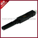 Conector rápido óptico del SC APC de la fibra de FTTH con alta calidad