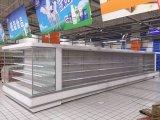 과일과 낙농장 전시 상업적인 슈퍼마켓 열려있는 냉장고
