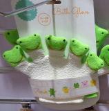 La marionnette de main de doigt d'Animial de porc badine le gant de nettoyage de Bath de bébé