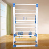 K-Type Blue Clothes Drying Rack com Shoe Rack Jp-Cr109PS