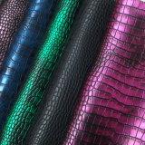 靴および袋(HS-M087)のための新しいデザインわにパターンPUの革
