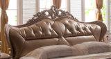 Новая европейская кровать неподдельной кожи конструкции для мебели спальни (HC520)