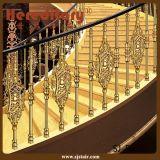 Pasamano de aluminio curvado color caliente elegante de la escalera del oro de la venta de Medio Oriente para la escalera del hotel (SJ-B038)