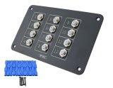 速くの12の方法AC/DC押しボタンのリセットの回路ブレーカのアルミニウムパネルはターミナル15A 12PCSを接続する