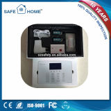 Sistema de alarma avanzada pantalla táctil de la salida de relé GSM para los hogares
