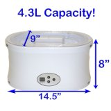 calentador de la cera de parafina de 4.3L Digitaces
