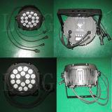 Lumière PAR 18PCS DMX Outdoor LED Professional Rgbwauv