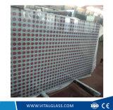 Vetro decorativo di arte di stampa di seta vitale con Ce & ISO9001