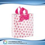 Sac de transporteur de empaquetage estampé de papier pour les vêtements de cadeau d'achats (XC-bgg-017)