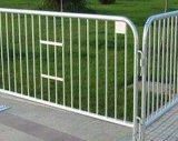 Barreira provisória do controle de multidão da construção retrátil Fencing/PVC